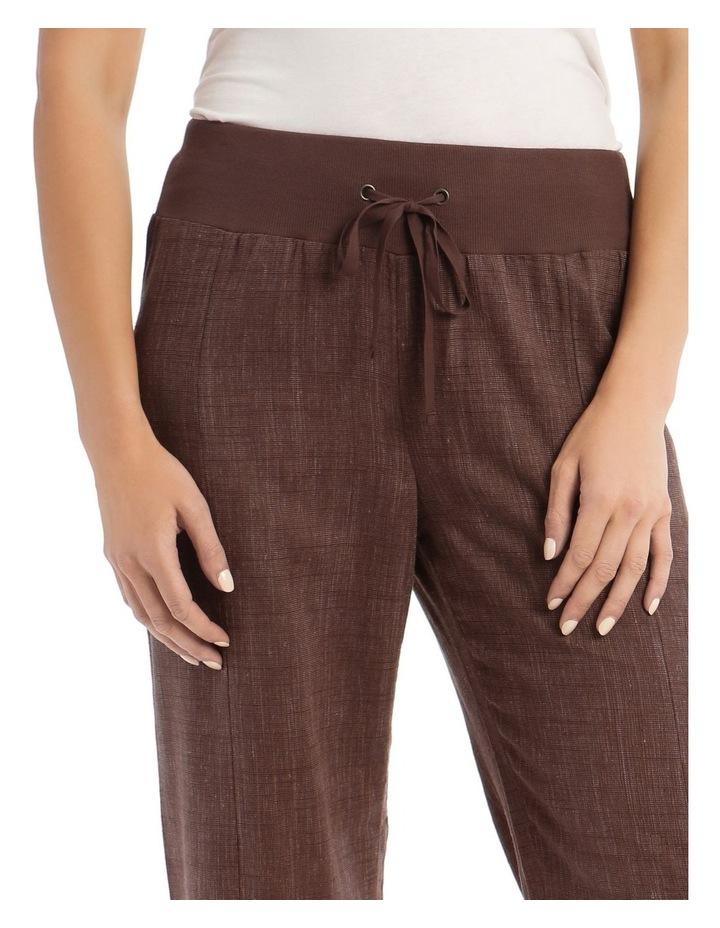 Rib Waist Wide Leg Pant image 4