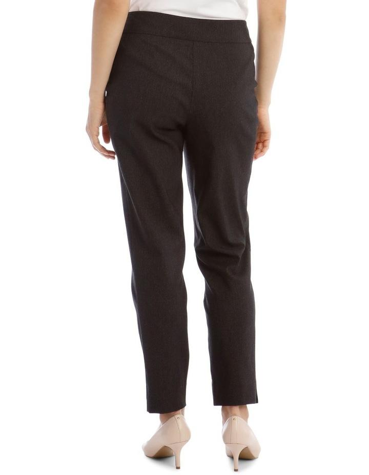 Slim Textured Fl Bengaline Pant- Black image 3