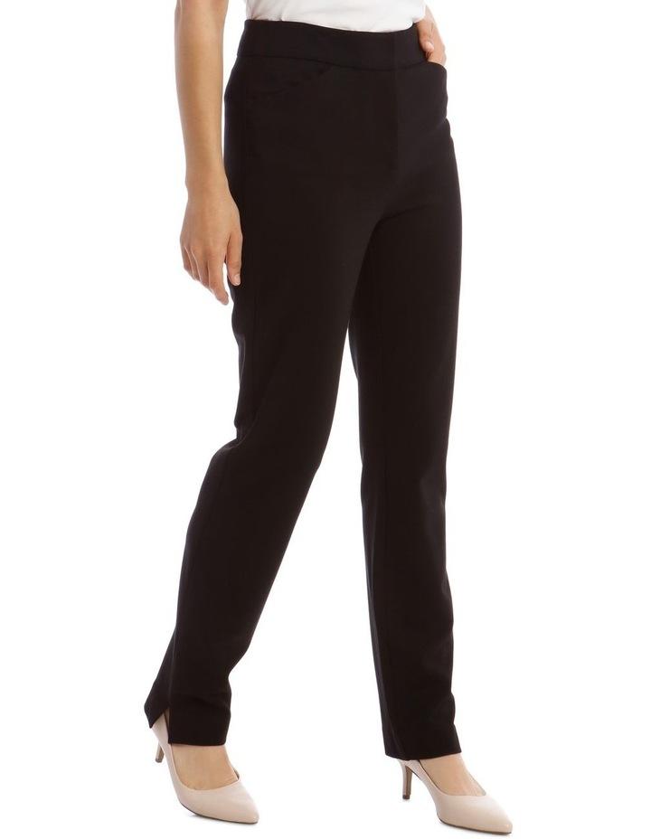 Black Straight Leg Ponte Pant image 2
