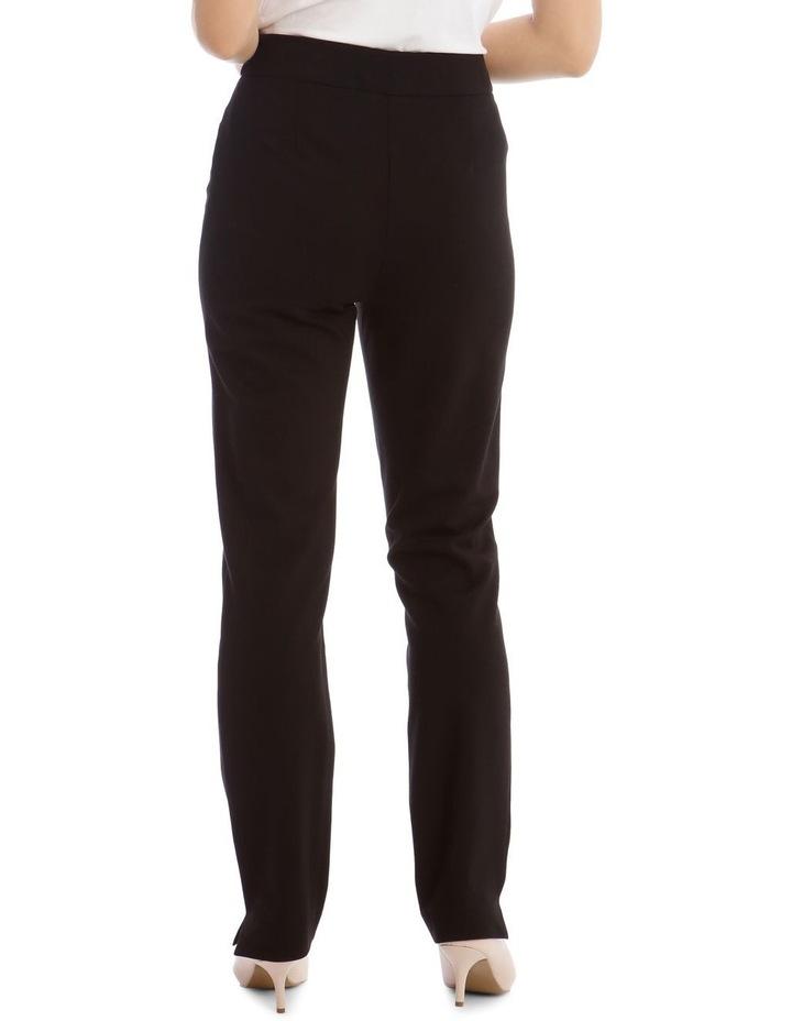 Black Straight Leg Ponte Pant image 3