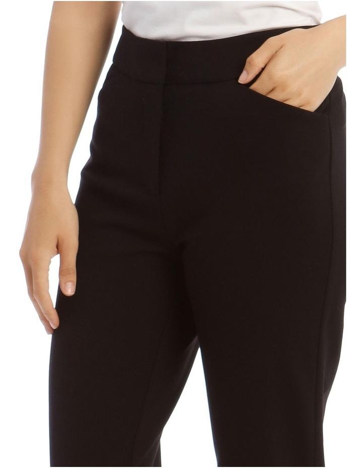 Black Straight Leg Ponte Pant image 4