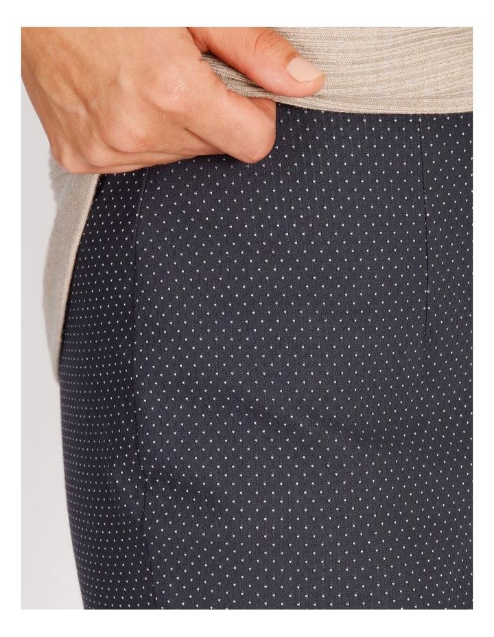 Ochre Dawn Textured Spot Bengaline Slim Pant image 4