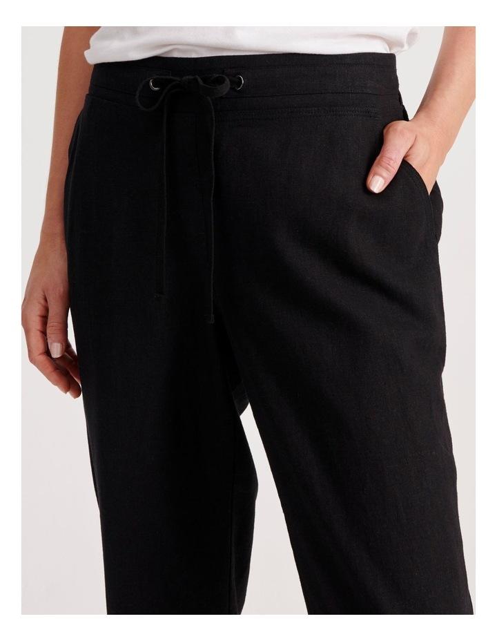 Linen Blend Straight Leg Pant image 5