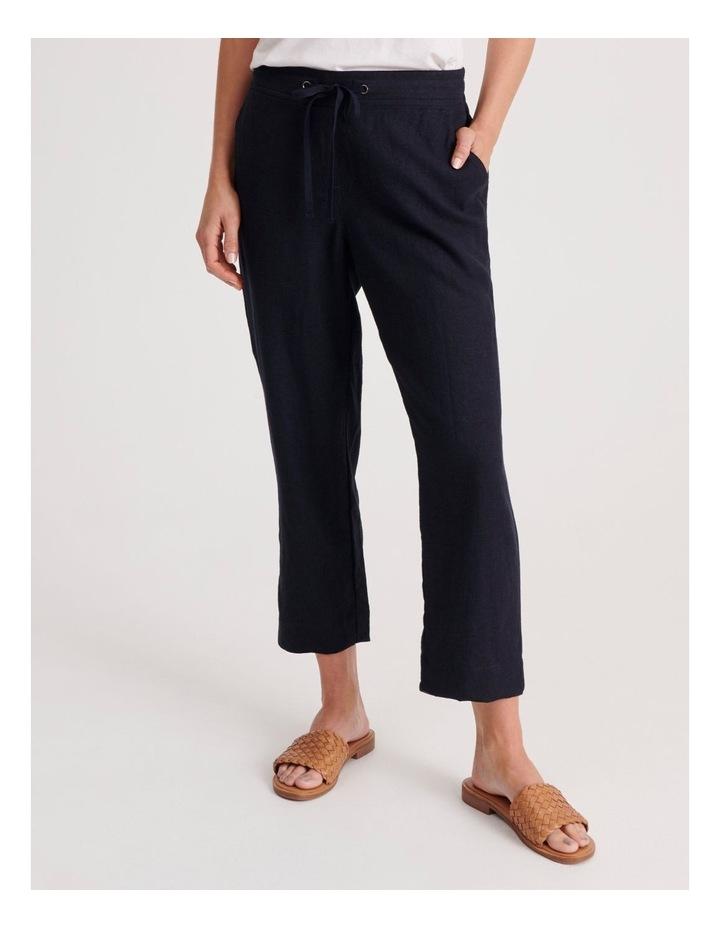 Linen Blend Straight Leg Pant image 1