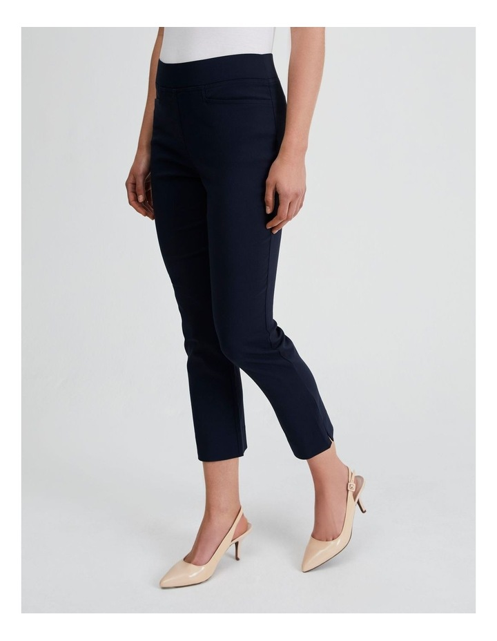 Essential Stretch Crop Pant in French Navy image 2