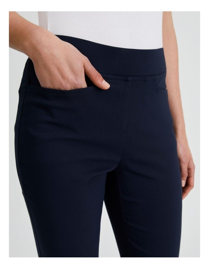 Essential Stretch Crop Pant in French Navy image 5