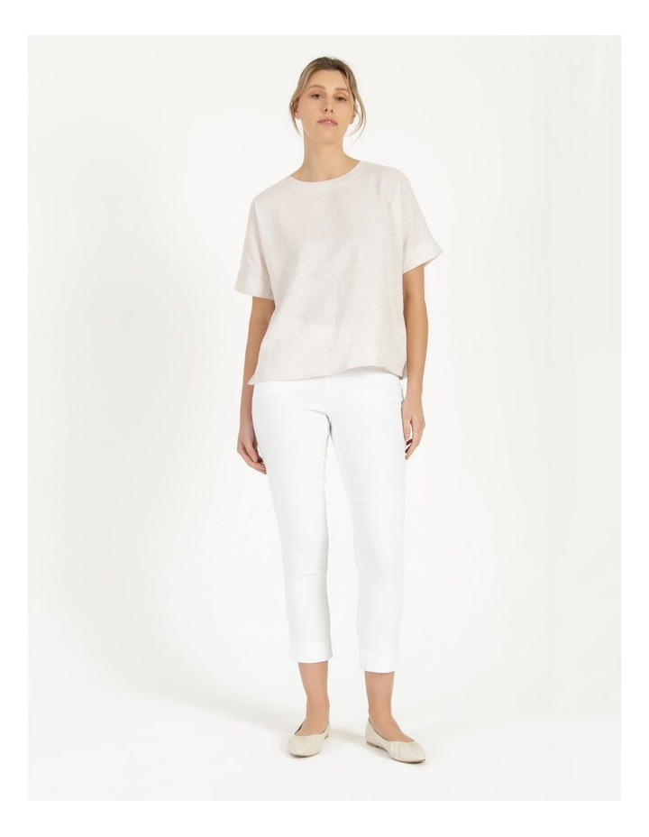 Essential Stretch White Crop Pants image 1
