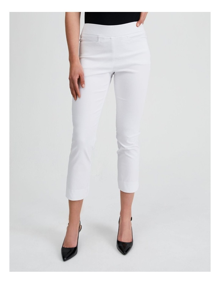 Essential Stretch Crop Pant in Blanc White image 1