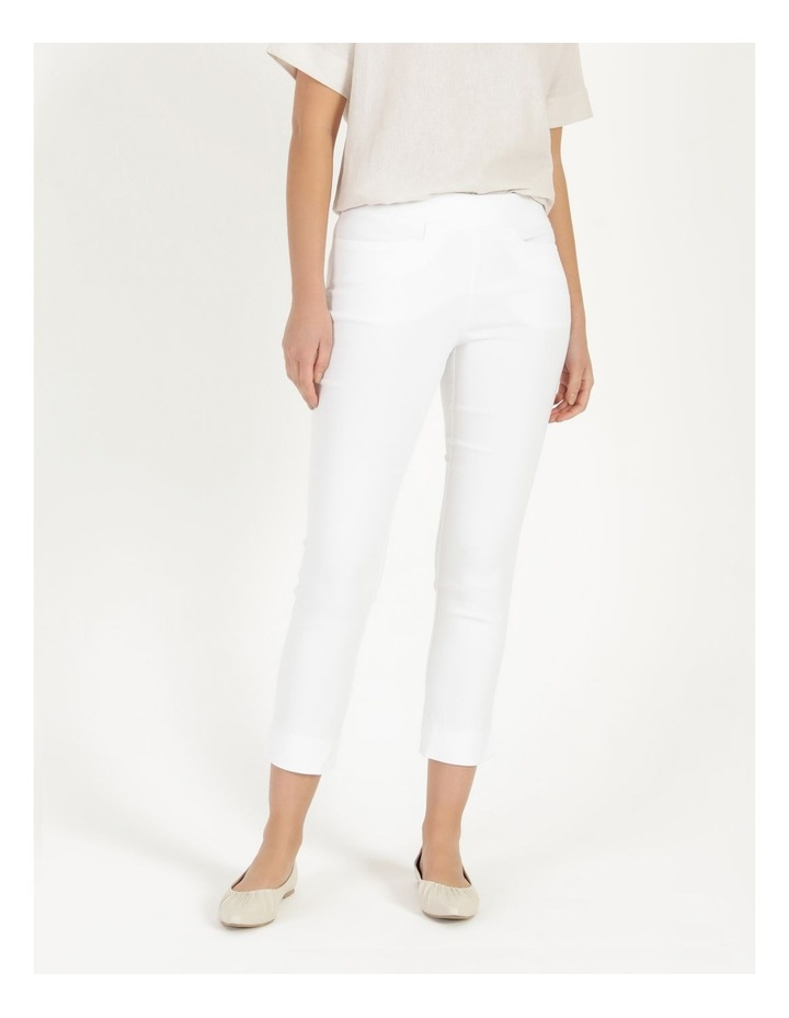 Essential Stretch White Crop Pants image 2