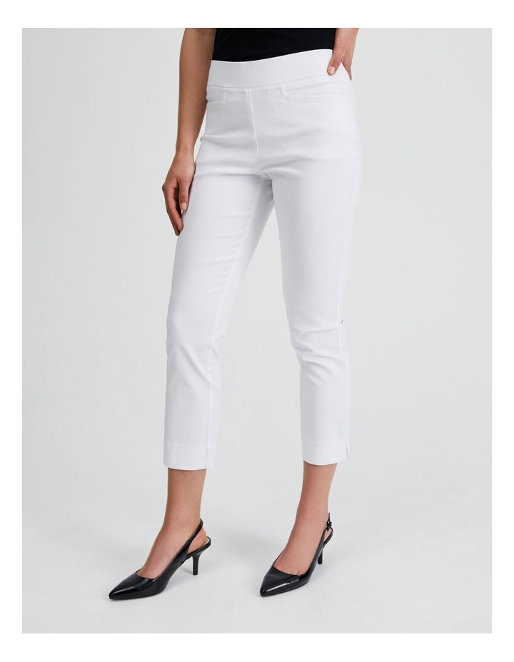 Essential Stretch Crop Pant in Blanc White image 2
