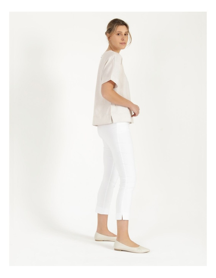 Essential Stretch White Crop Pants image 3