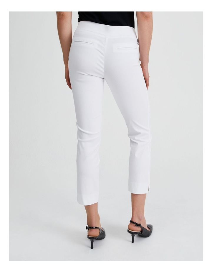 Essential Stretch Crop Pant in Blanc White image 3