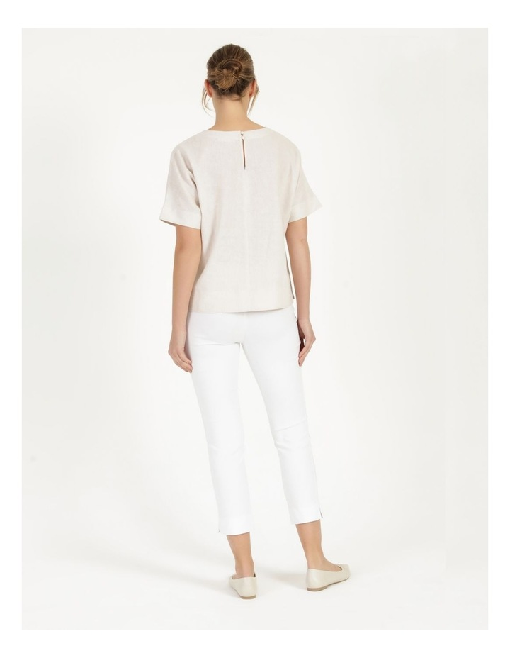 Essential Stretch White Crop Pants image 4