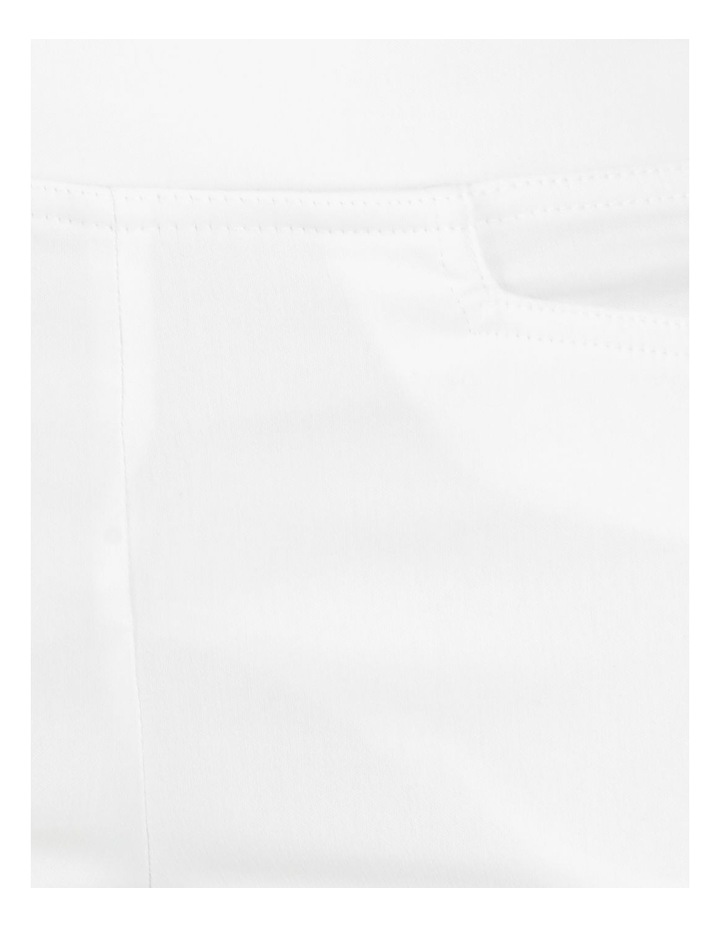 Essential Stretch White Crop Pants image 7