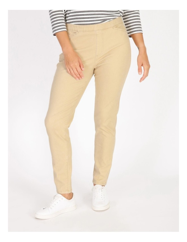 Elastic Waist Pant With Front & Back Pockets image 1