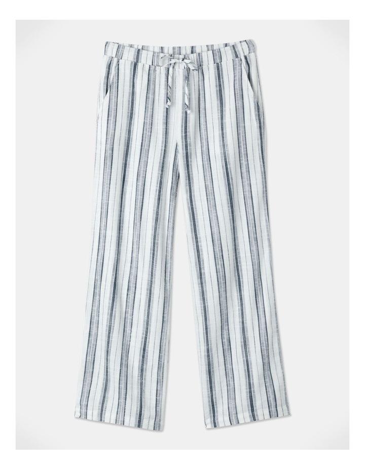 Elastic Tie Waist Pant Indigo/White Stripe image 1