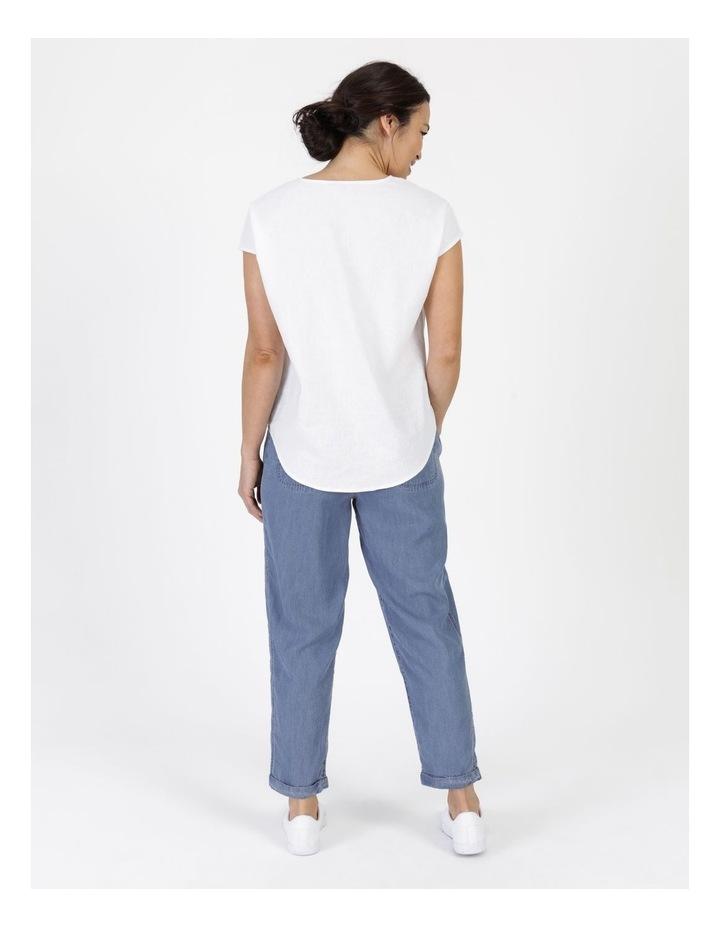 Elastic Waist Side Panels And Cuff Pant Indigo image 3