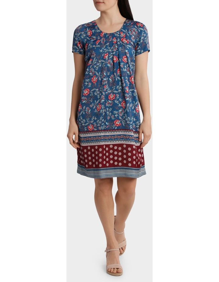 Folk Floral Print Shift Dress image 1