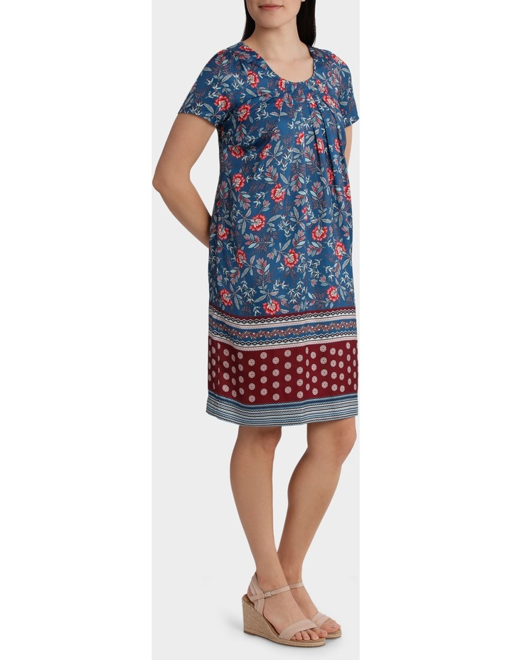 Folk Floral Print Shift Dress image 2