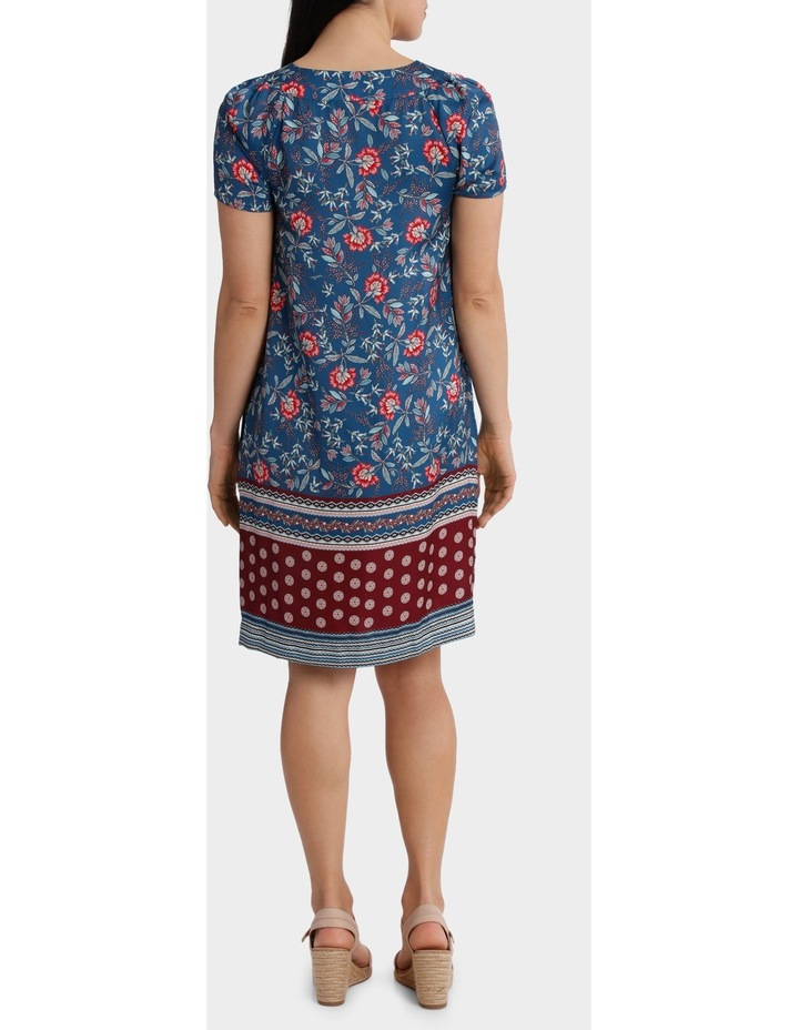 Folk Floral Print Shift Dress image 3
