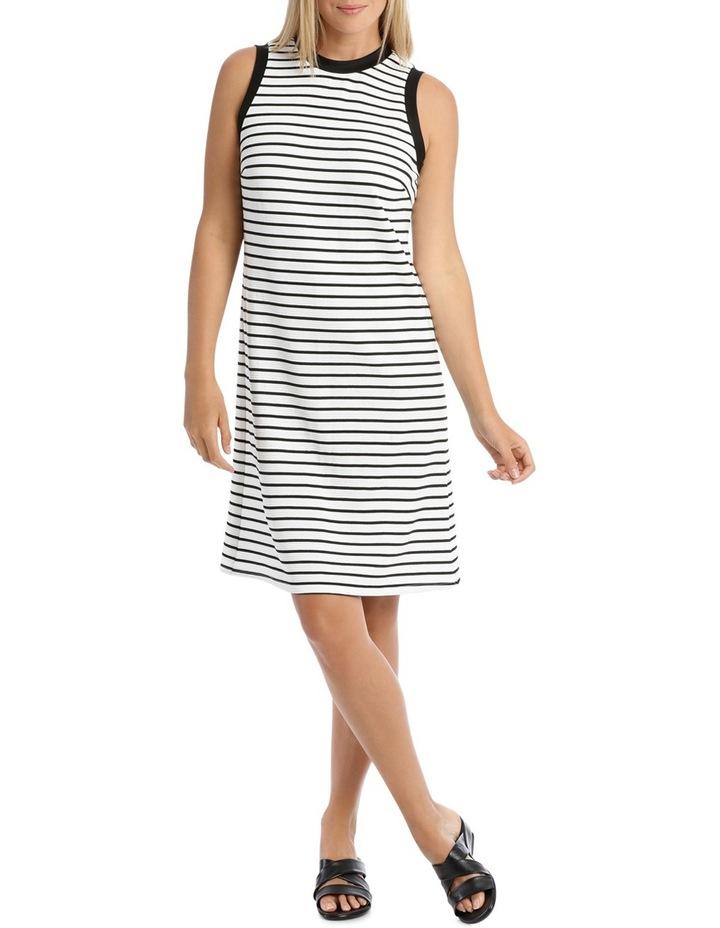 Sleeveless Textred Stripe Shift Dress image 1