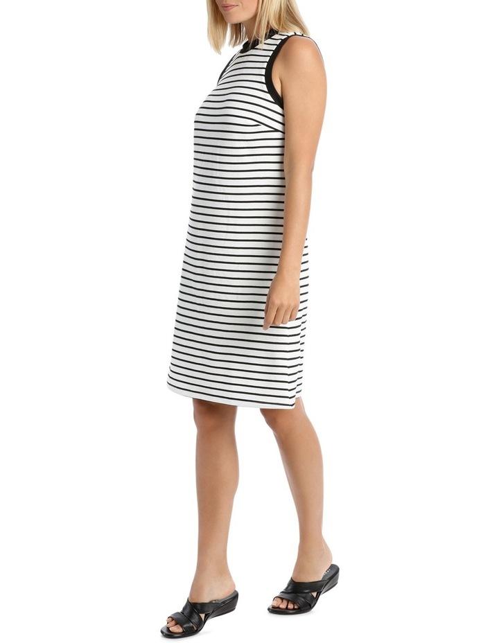 Sleeveless Textred Stripe Shift Dress image 2