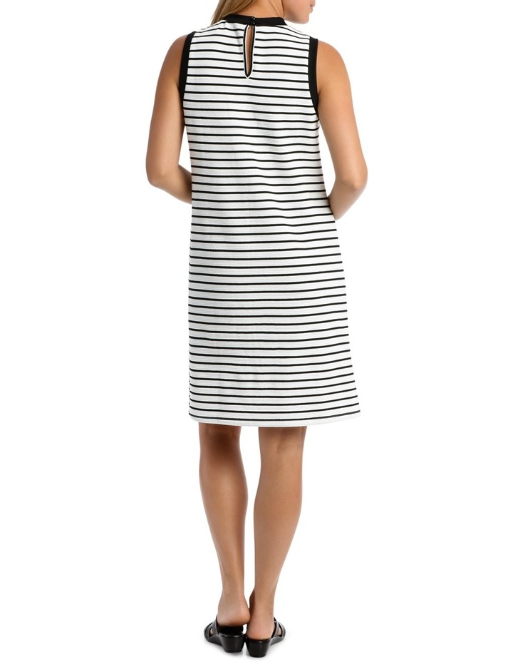 Sleeveless Textred Stripe Shift Dress image 3