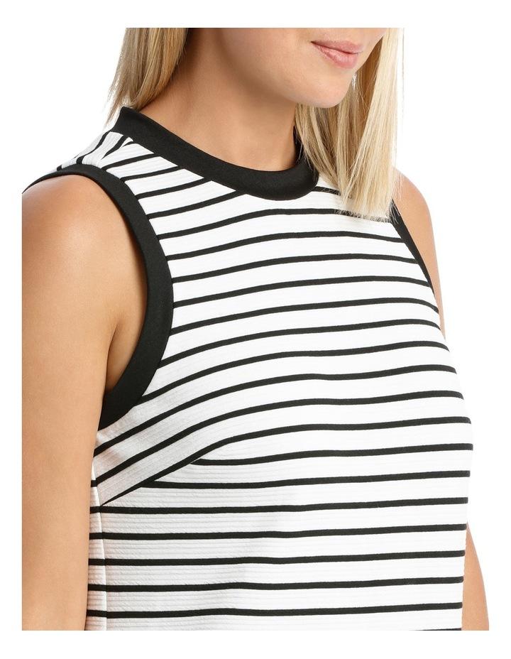 Sleeveless Textred Stripe Shift Dress image 4