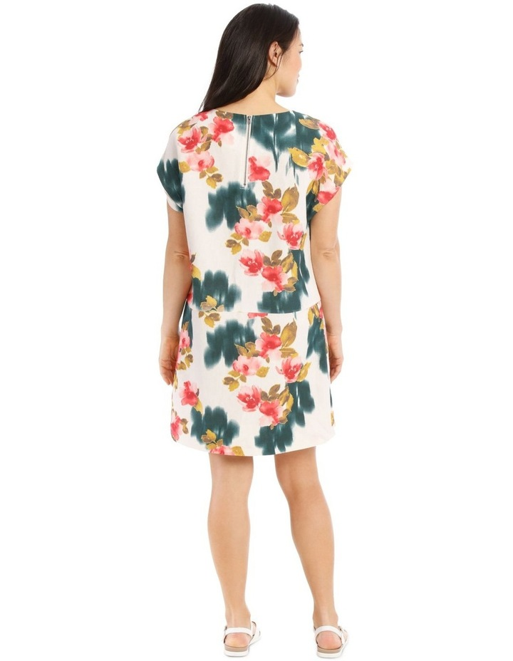 Dropped Shoulder Short Sleeve Dress With Pockets image 3
