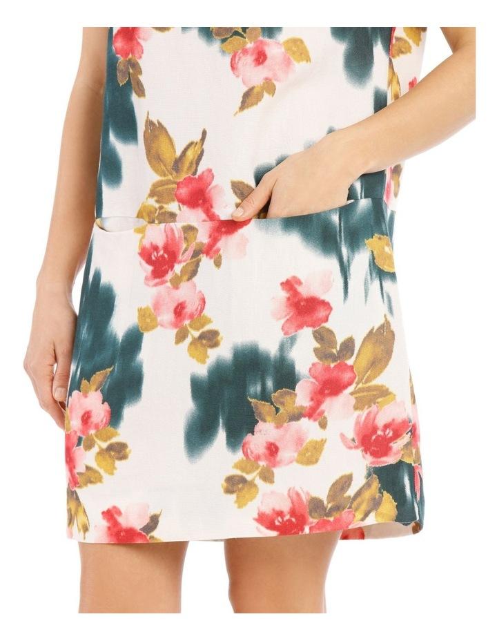 Dropped Shoulder Short Sleeve Dress With Pockets image 4