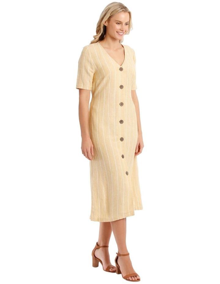 V-Neck Button Front, Tie Back Dress image 2