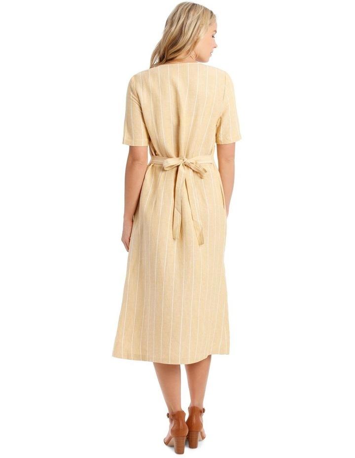 V-Neck Button Front, Tie Back Dress image 3