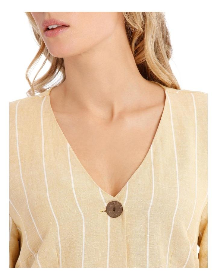 V-Neck Button Front, Tie Back Dress image 4