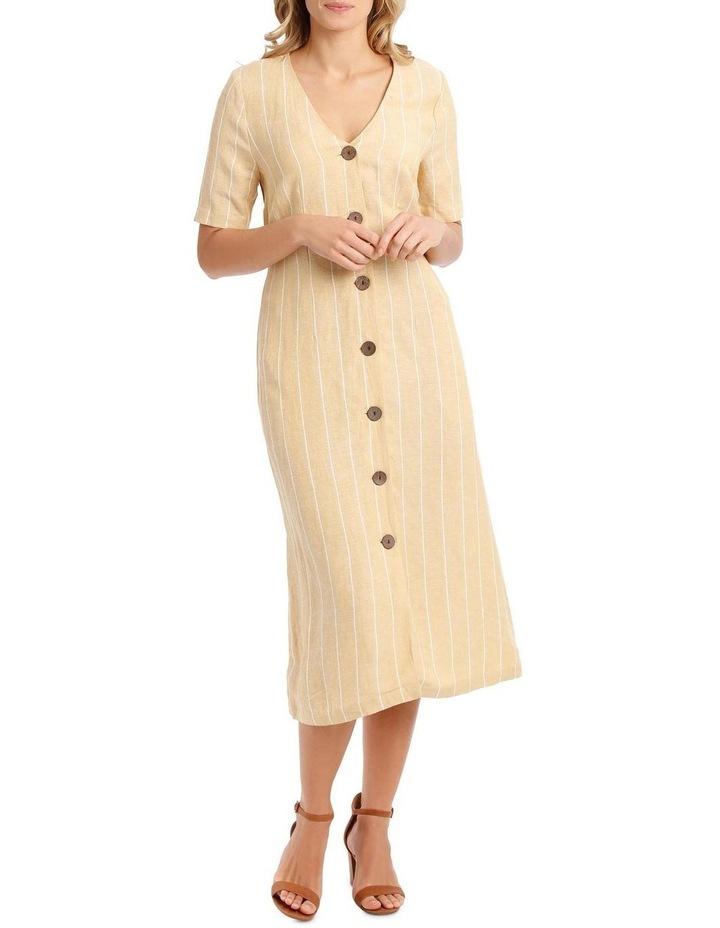 V-Neck Button Front, Tie Back Dress image 5
