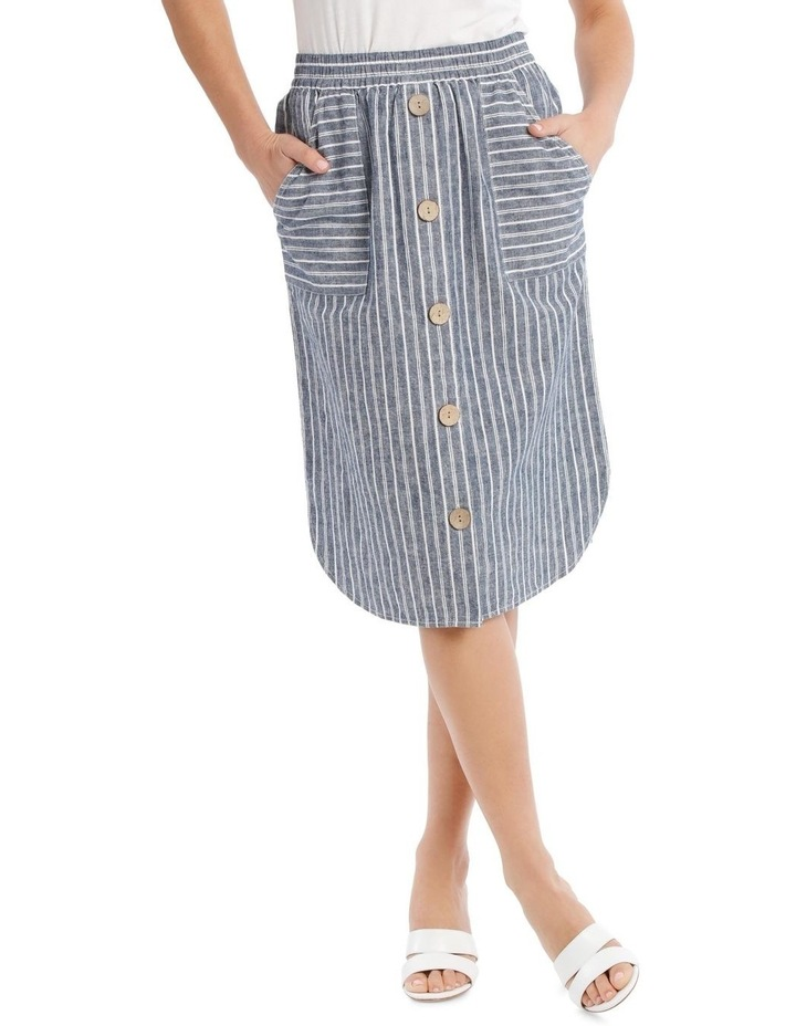 Curved Hem Button Front Skirt image 1
