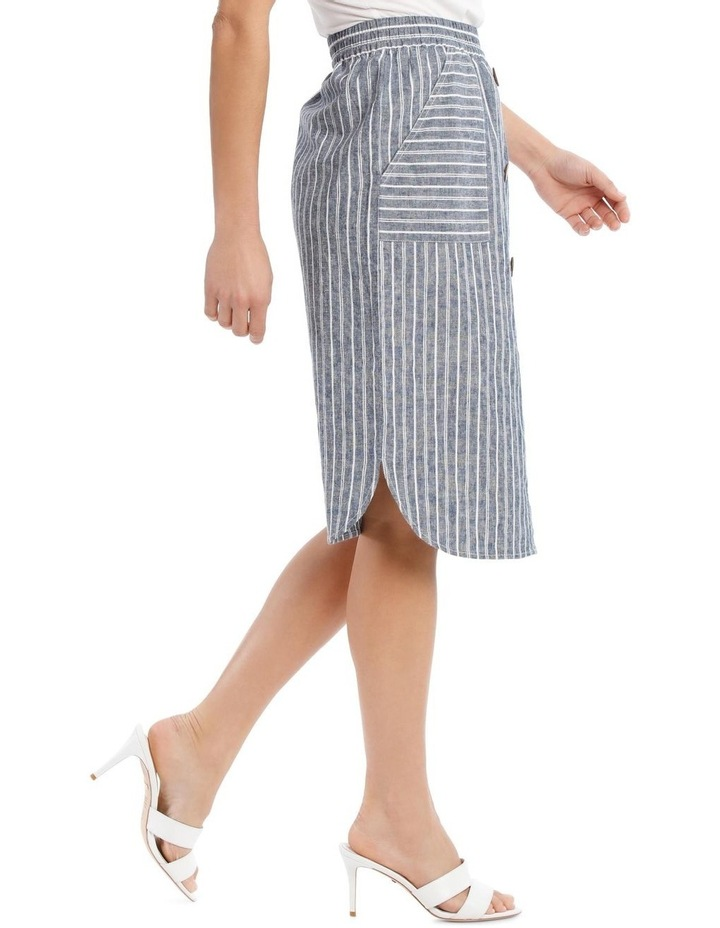 Curved Hem Button Front Skirt image 2