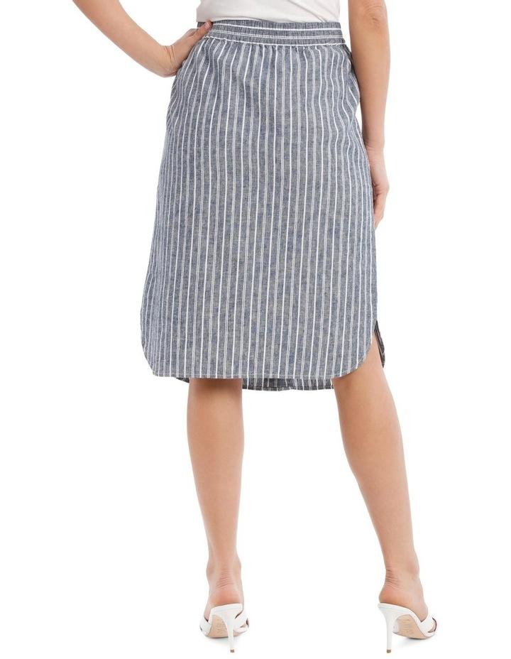 Curved Hem Button Front Skirt image 3