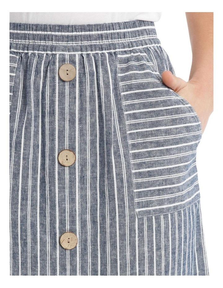 Curved Hem Button Front Skirt image 4