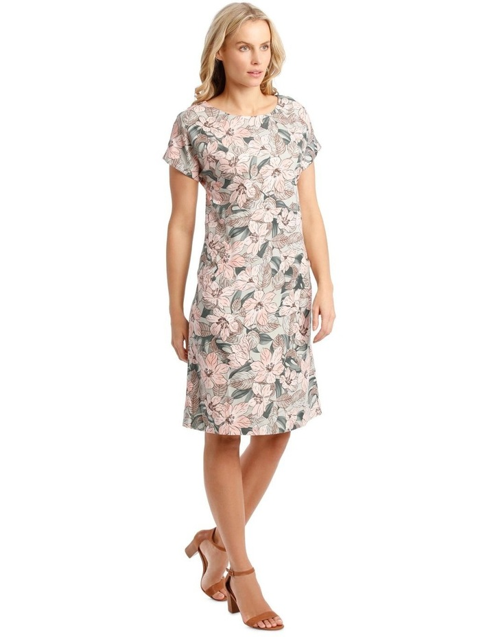 Extended Short Sleeve Dress With Waist Seam image 2