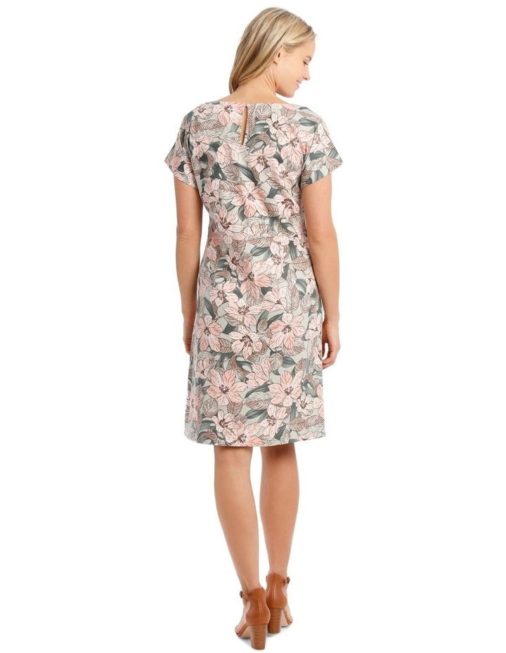 Extended Short Sleeve Dress With Waist Seam image 3