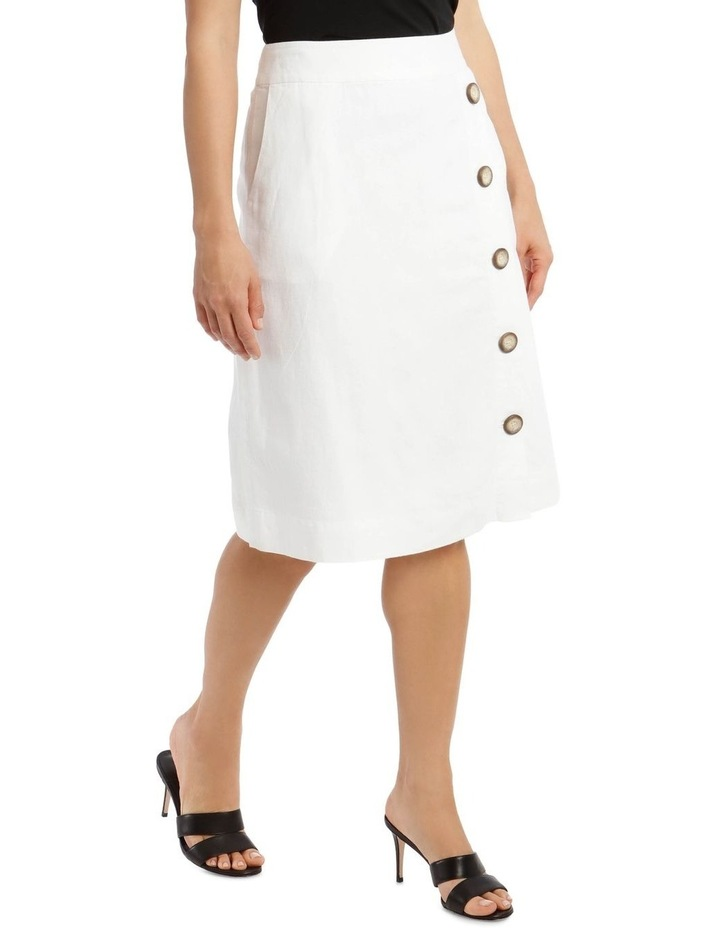 Side Button Skirt With Pockets image 2