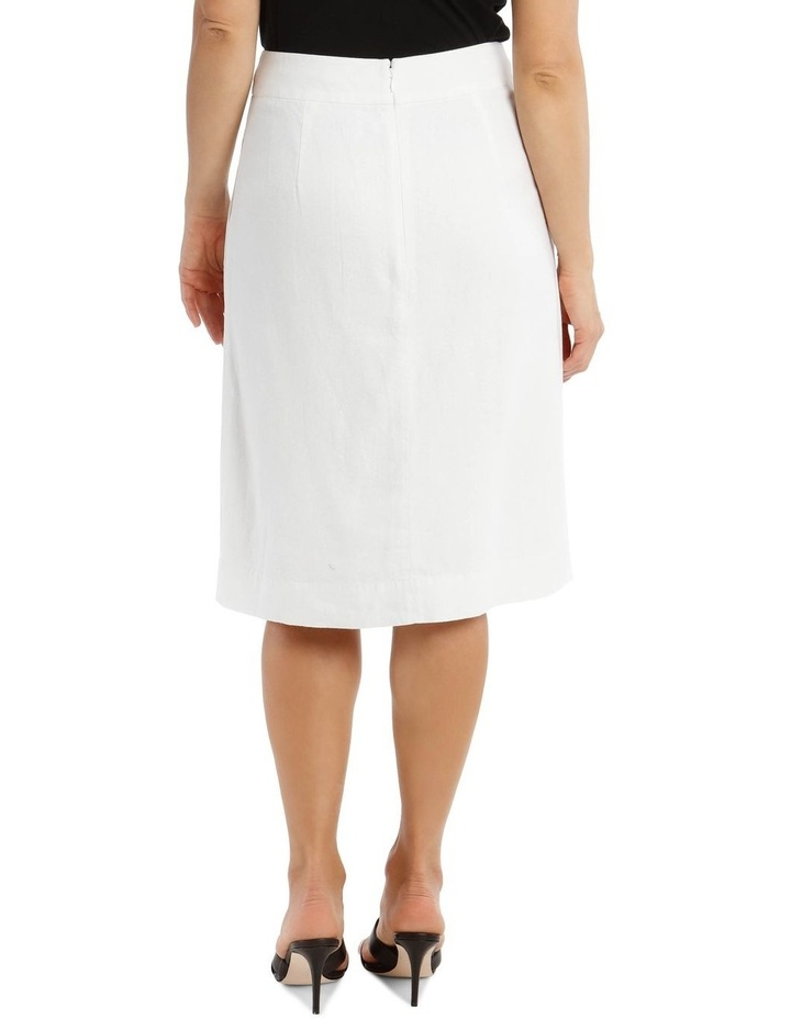 Side Button Skirt With Pockets image 3