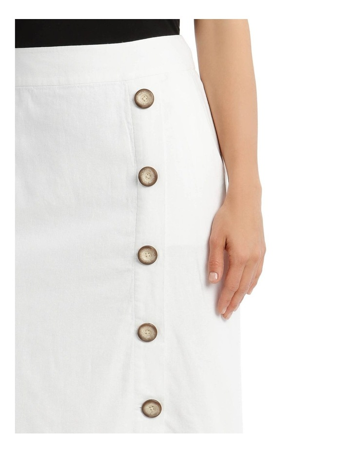 Side Button Skirt With Pockets image 4