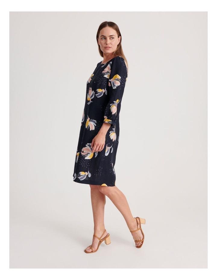 3/4 Sleeve Linen Blend Dress image 2