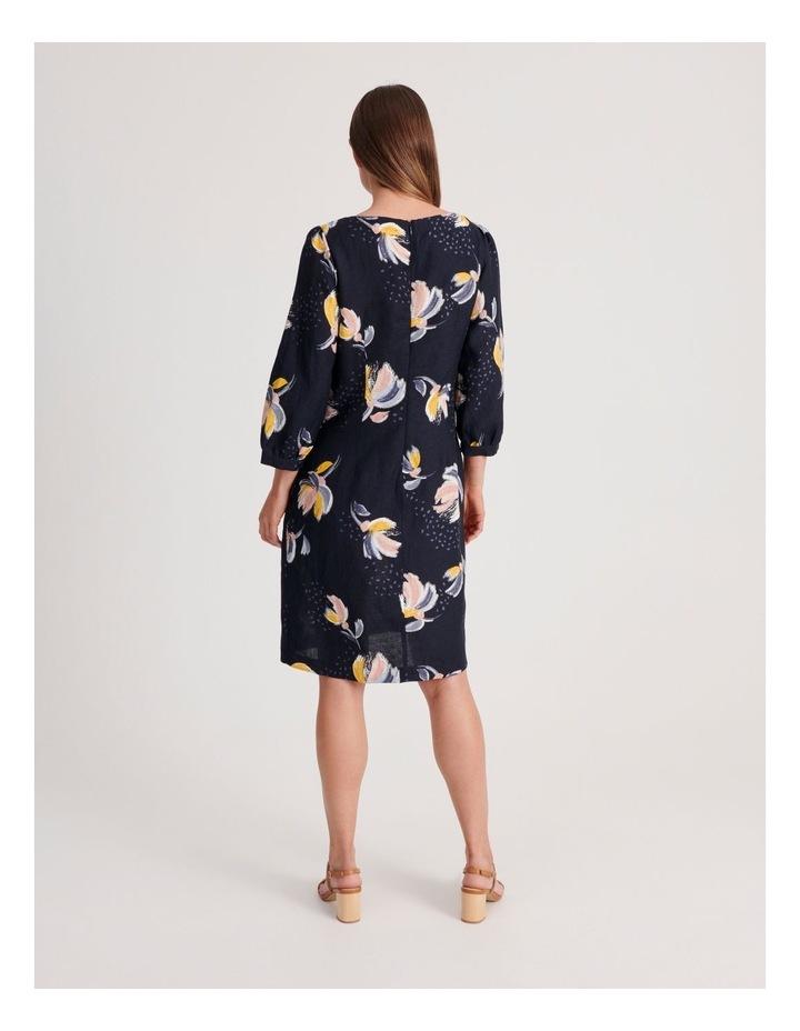 3/4 Sleeve Linen Blend Dress image 3