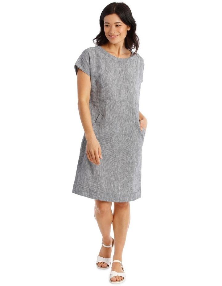 Extended Short Sleeve Curved Waist Seam Dress image 1