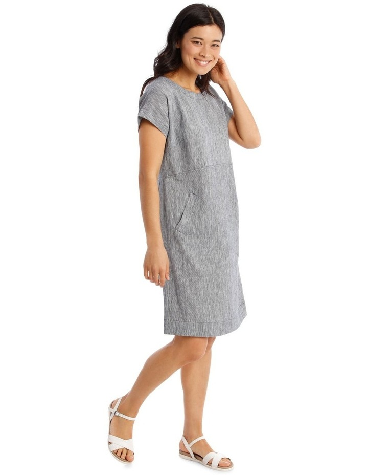 Extended Short Sleeve Curved Waist Seam Dress image 2