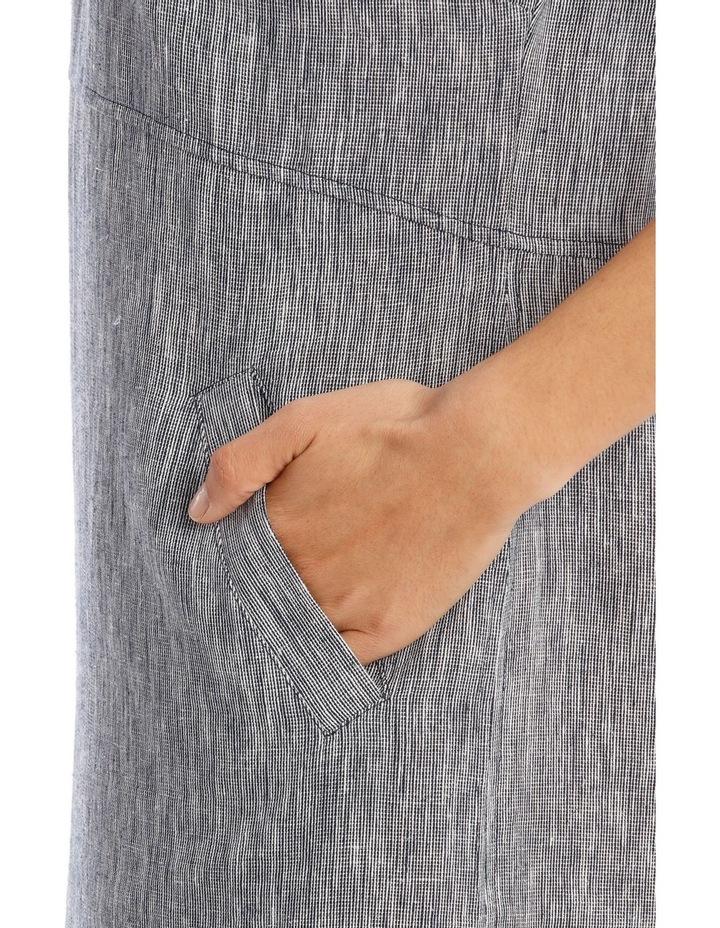 Extended Short Sleeve Curved Waist Seam Dress image 4