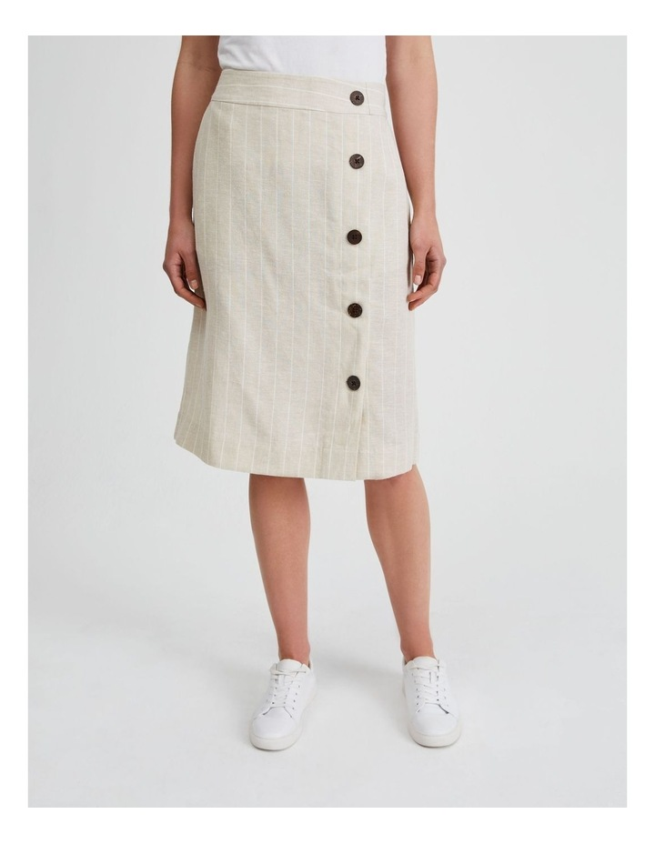 Side Button Skirt With Elastic Back image 1