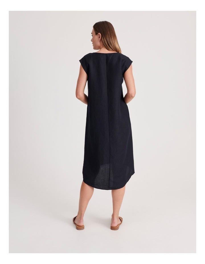 V Neck Dress With Button image 4